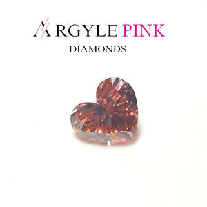 Argyle-Diamant-Rose-0-46ct-Naturel-Dessere-Deguisement-Intense-Couleur-GIA
