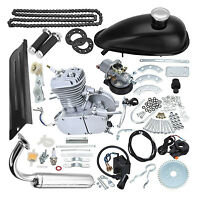 80cc 2 Stroke Motor Engine Kit For Motorised Bicycle Push Bike Chopper Usa