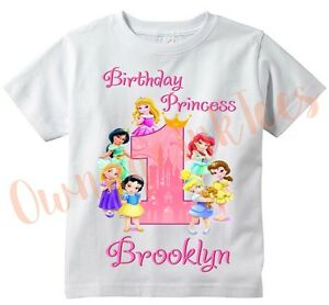 Image Is Loading Disney Princess Babies Custom T Shirt PERSONALIZE Add