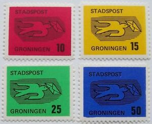 Stadspost-Groningen-1970-Serie-Vliegende-Postduif
