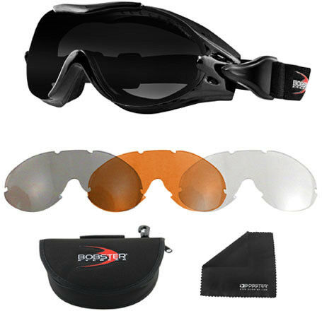 Zan Headgear BPX001 Phoenix OTG Interchangeable Goggles Black 50-9260 2601-0735
