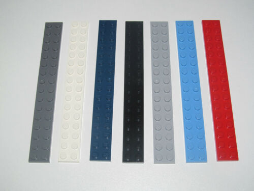 Lego ® Construction Plaque 2x16 Plate Platten Choose Color ref 4282