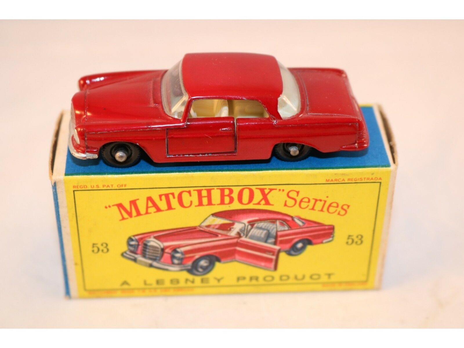 Matchbox Lesney No 53 Mercedes Benz Benz Benz Coupe rosso BPW very very near mint in box 957c3b