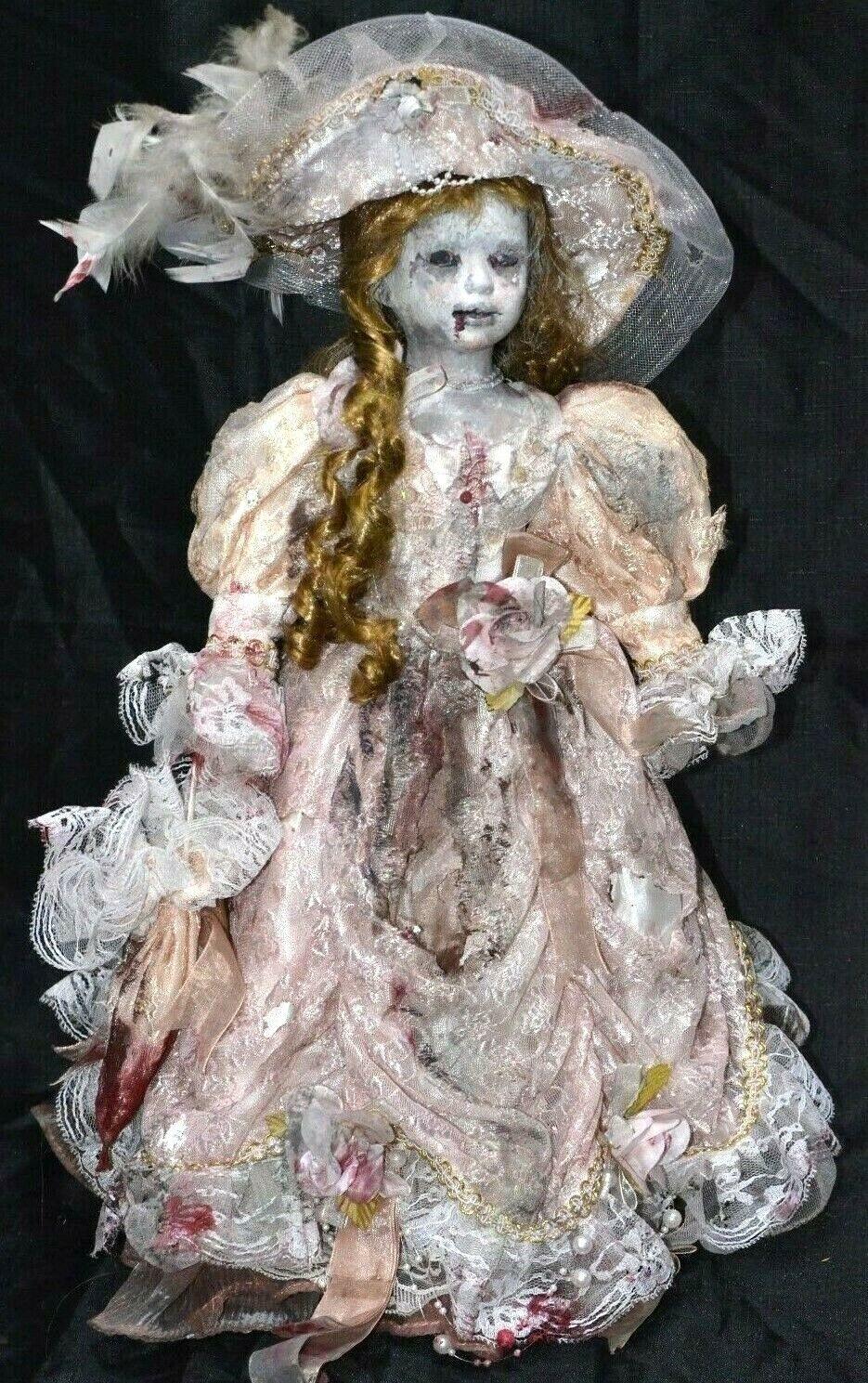 Muñeca De Porcelana espeluznante Horror Zombie Victoriana Mostrar Prop Gótico 19  de un tipo muerto