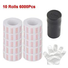 10 Rolls 6000pcs White Price Gun Labels Paper Tag Sticker Refill For Mx 5500