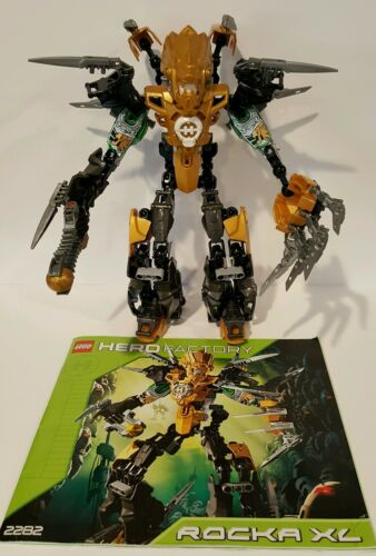 100/% Complete /& Retired Lego Hero Factory Rocka XL 2282 w// Instruction Manual