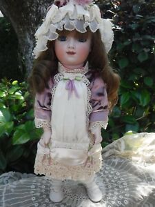 """Reproduction Enthusiastic 15"""" French Thuillier Reproduction Doll By Lynda & Alan Marx Nice Clothing Dress Dolls & Bears"""