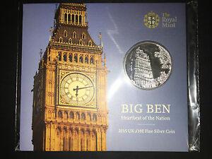 Royal Mint 100 Big Ben 2015 Silver Coin  New  Rare Limited  London Souvenir - London, London, United Kingdom - Royal Mint 100 Big Ben 2015 Silver Coin  New  Rare Limited  London Souvenir - London, London, United Kingdom