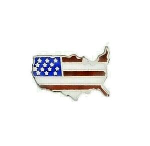 American Flag Us Map Vest Hat Pin 1 X 58 Vest Hat Cap Pin - American-flag-us-map