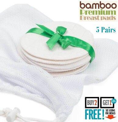 10 X L'allattamento Al Seno Tamponi Allattamento Set Riutilizzabile Lavabile Al Seno Maternità Bamboo Uk- Materiali Di Alta Qualità Al 100%