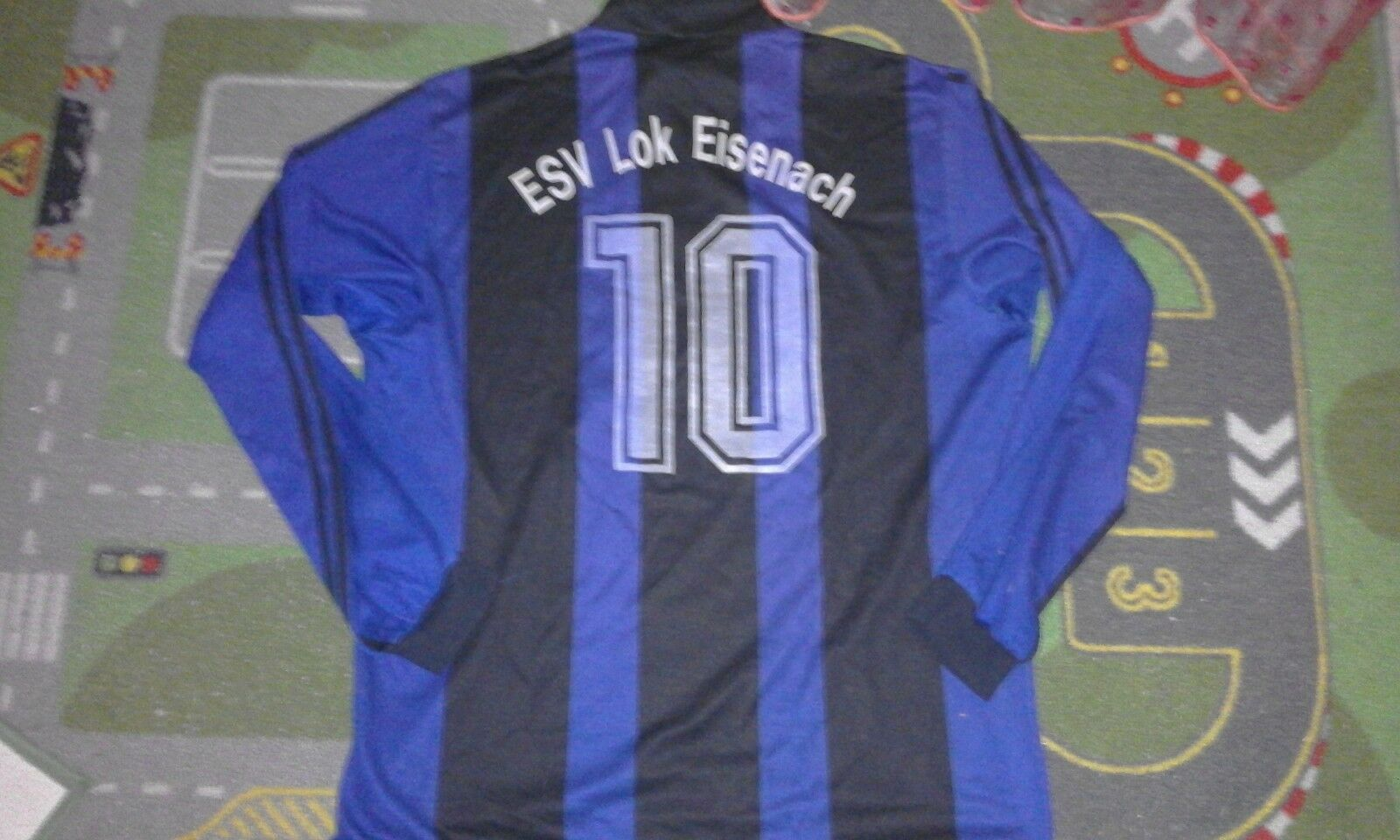 Esv Lokomotiv Eisenach football shirt match worn fussball trikot Jersey adidas