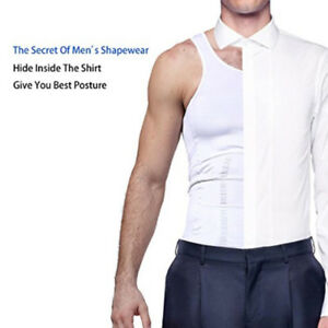 d3bc3407fa Men New Slim Shirt Body Shaper Vest Belly Fatty Compression Corset ...