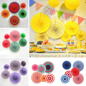 Image Is Loading 6x Wedding Birthday Party Paper Fan Flowers