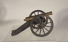 Antique Vintage Cannon Model Brass Bronze Cast Iron Wagon Wheel Base HOwitzer