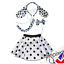 "Girl HALLOWEEN Costume DALMATIAN Fancy Dress COSTUME 12/"" SKIRT Set Ears Tail"