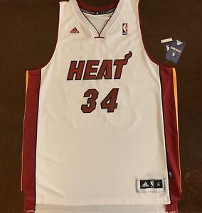 new product bdbdd 16ff7 Details about Rare Adidas NBA Miami Heat Jesus Shuttlesworth Ray Allen  Basketball Jersey