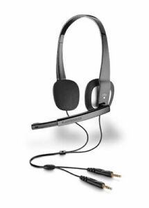 Plantronics-Audio-320-Stereo-Computer-Headset-with-microphone-New-Bulk-Package