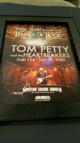 Tom Petty And The Heartbreakers Rare MSG Concert Promo Poster Ad Framed!