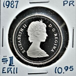 1987 Canada $1 Proof Nickel Dollar