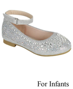 c7ea7018b501 Link Girls Dress Shoes Fancy Rhinestone Dressy Shoes Sparkly Silver ...