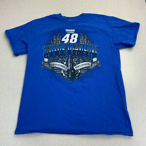 Hendrick-Motorsports-T-shirt-Mens-Small-Jimmie-Johnson-48-Blue-Short-Sleeve