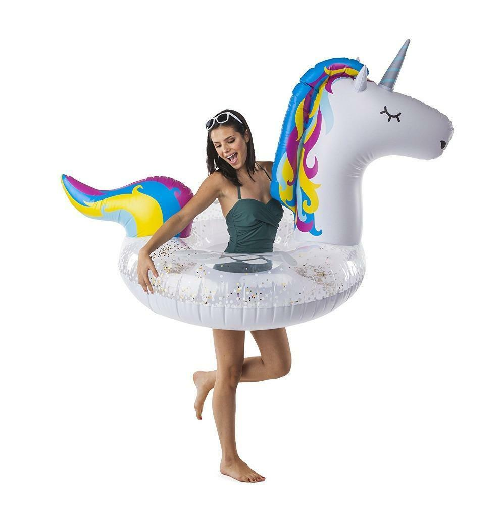 BigMouth Giant Magical Unicorn Rainbow Swimming Pool Inflatable Raft Float Adult