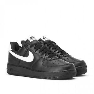Scarpe-da-uomo-nike-Air-force-1-low-retro-nero-bianco-pelle-CQ0492-001-premium