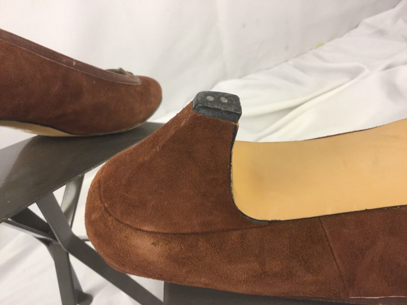 Pappagallo Dress Shoes Brown Pumps Size 9.5 N Brown Shoes Suede Made in Spain Mint YGI b95ce0
