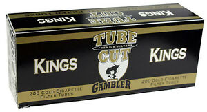 5-Five-Gambler-Tube-Cut-Light-King-Size-Cigarette-Tubes-200ct-box-RYO-MYO