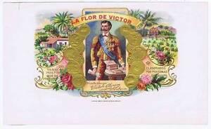 La Flor de Victor Interne Cigare Boîte Label 1899 par Krueger & Braun Litho. N.Y rgCq5MKy-09085428-927793404