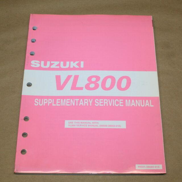 2005 SUZUKI VL800 Service Manual Supplement