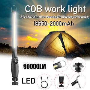90000LM-Rechargeable-COB-LED-Slim-Work-Light-Lamp-Flashlight-Magnet-Torch