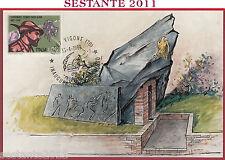 ITALIA MAXIMUM MAXI CARD INAUGURAZ. MONUMENTO TRUPPE ALPINE VIGONE TO 1989 B970