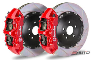 Brembo Front Gt Bbk Brake 6pot Caliper Red 405x34 Slot