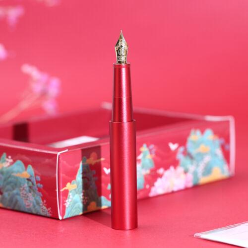 Iridium EF// F Nib Metal Short Pocket Pen MOONMAN Candy Lipstick Fountain Pen