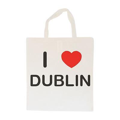 Capace I Love-borsa In Cotone Dublin | Taglia Scelta Tote Shopper, O Sling-mostra Il Titolo Originale