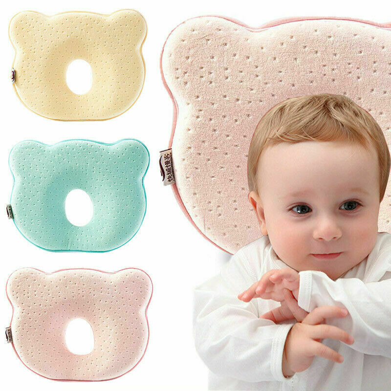 Baby Pillow Anti Flat Head Cushion Newborn Infant Crib Cot Bedding Baby Girl Boy