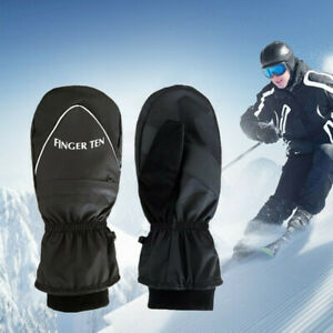 Snowboard-Mittens-Mens-Winter-Warm-Thermal-Gloves-Windproof-Waterproof-Large-US