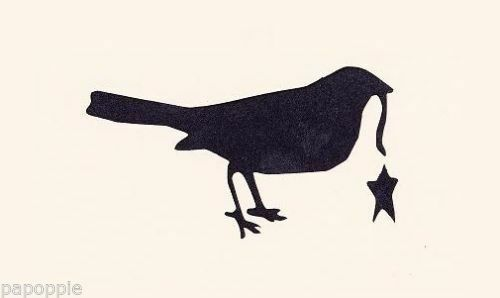Stencil Primitive Crow with Dangling Star for Crafts~Signs~Pillows~Walls~Lamps