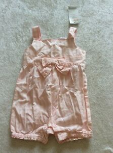 Gymboree-bubble-Romper-0-3-Months-Baby-Girl-Pink-Plaid-Bow-Nwt