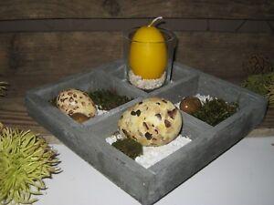 Dekoschale Holztablett Kerzen Tablett Tischdeko Ostern Holz