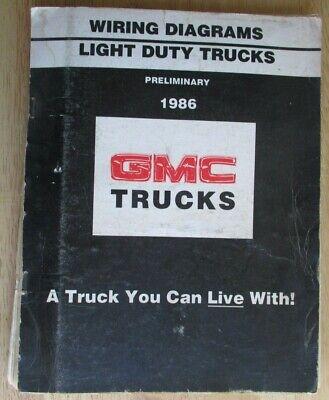 1986 GMC Electrical Wiring Diagram PRELIMINARY Manual ...
