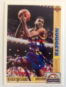 Reggie Williams 1992 Upper Deck Hand Signed Card Denver Nuggets