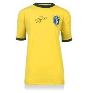 Zico Front Signed Brazil 1982 Home Shirt Autograph Jersey