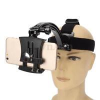 Universal Head Strap + Phone holder+ Motorcycle Biking Arm Mount for Gopro Phone