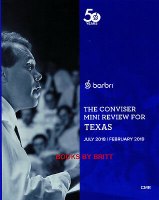 NEW 2018-2019 Barbri Bar Exam TEXAS Conviser Mini Review TX