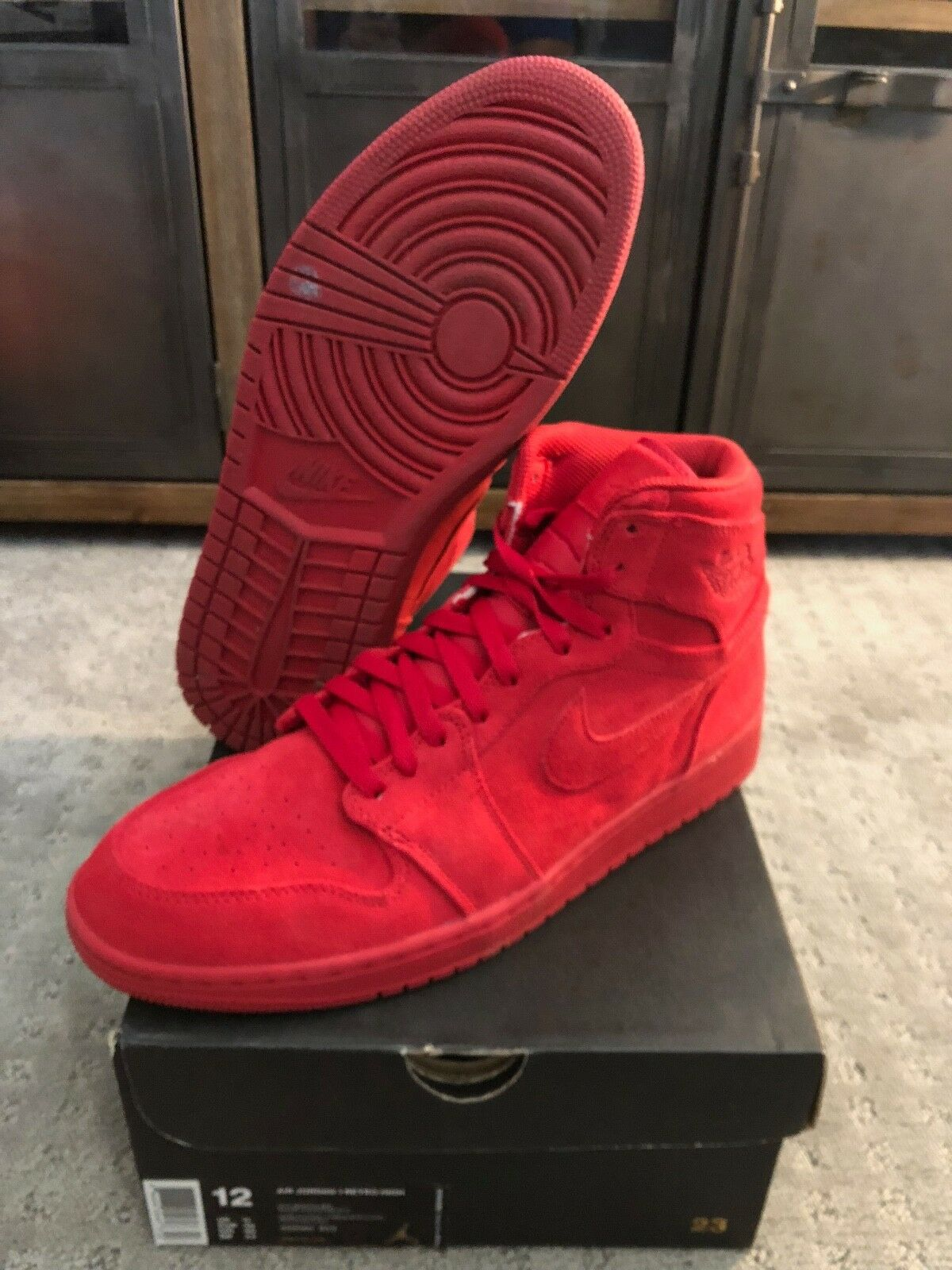 "0f935b8ad9c1d 2017 Nike Air Jordan I ""Red Suede"" (332550-603) Men's size 12 US 1 ..."