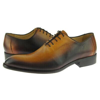 Carrucci Burnished Wholecut Oxford, Men's Dress Leather Shoes, Cognac | eBay