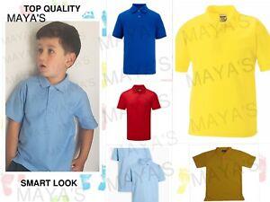Polos-enfants-garcons-filles-enfants-adultes-PE-Sports-scolaires-New-Summer-Uniform