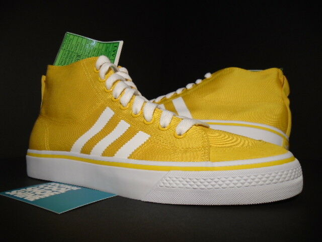 Adidas Nizza Classic 78 Hi inédito muestra balística Super Amarillo blancoo Azul 9